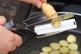 Coupe-couteau et ciseau de cuisine multifonction 2 po en 1