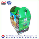 Reciclar la calidad crean el cartón acanalado colorido del rectángulo para requisitos particulares de papel