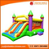 巨大スライドの膨脹可能な跳躍の警備員の城はコンボ二倍になる(T2302)