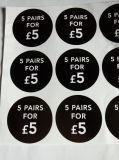 Ценник для стикера ярлыка печатание одежды