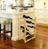 Het praktische Rek van de Vertoning van de Opslag van de Fles van de Wijn van het Meubilair Houten in Huis