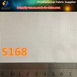 白い袖のライニング、ポリエステル縞のスーツのライニングファブリック(S112.168)
