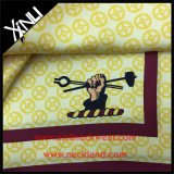 Lenço de seda da cópia feita sob encomenda do logotipo com caixa do envelope