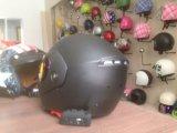Голубой шлем мотоцикла полной стороны шлема забрала двойника зуба
