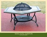Tabella americana della fusion d'alluminio della mobilia esterna per l'insieme della Tabella del barbecue