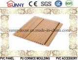 木カラーによって薄板にされるPVCパネルPVC天井のプラスチック壁パネル、Cielo Raso De PVC