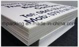 Feuille en plastique ondulée de feuille de noir de couleur d'impression de mur jumeau blanc du polypropylène pp/feuille de Correx Coroplast Corflute