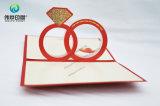 Cartão de papel estereoscopicamente creativo do presente da impressão