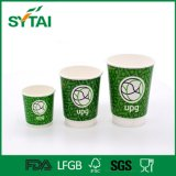 Take Away Coffee Paper Cup Descartável Custom Logo Double Wall Cup com tampa