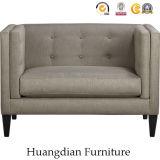 Muebles de la alta calidad para el sofá copetudo de la butaca del cuero de la sala de estar (HD523)