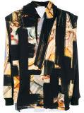 Pullover stampato barrocco Hoodie del manicotto lungo degli uomini