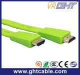 緑の高品質平らなHDMIのケーブル(F016)