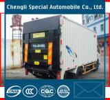 4X2 17m3 Box Van Cargo Truck con la compuerta de cola hidráulica