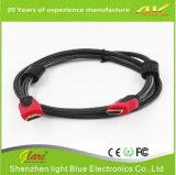 Kabel van het Vlechten 6FT HDMI van de hoge snelheid de Nylon