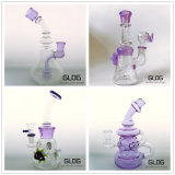 Gldg Birdcage Shower Tobacco Haute qualité Tall Color Bowl Glass Craft Cendrier Glass Smoking Water Pipe with Factory Price