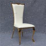 Cheap Gold inoxidable Stee Diorl silla con almohadilla de asiento de cuero blanco PU en Dubai (YCX-SS26-01)