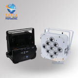 Projecteur plat à piles meilleur marché de PARITÉ de la radio DEL du prix usine 9*10W 4in1 RGBA/RGBW pour l'événement de lumière d'étape