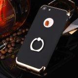 iPhoneのための携帯電話の箱のリングの立場の電気めっきの水晶堅いケースプラス7 6 4.7