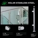 Barandilla del vidrio Tempered de los sistemas de pasamano del acero inoxidable para los diseños de la casa