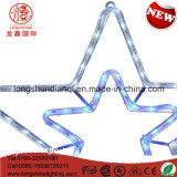 Decoratie van Kerstmis van het Motief van de Kabel van LEIDENE Twinking van Zeven Ster de Blauwe Lichte voor openlucht Aansteken