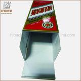 Caja de embalaje de la botella de licor con la ventana
