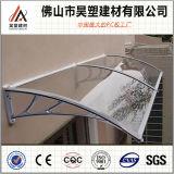 instalación fácil del toldo del policarbonato de 1000*1200m m del marco del balcón del pabellón de los materiales al aire libre de aluminio sólidos de Buliding