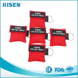 Máscara del CPR con las viseras unidireccionales del CPR de la válvula y el Keyring del CPR
