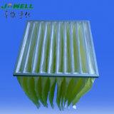 EU8 Merv 14 синтетических выдвинутых поверхностных карманных фильтра