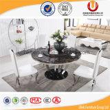 가정 가구 검정 스테인리스 기초 (UL-DC821)를 가진 대리석 식당 테이블