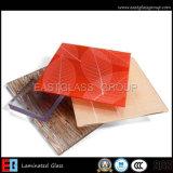 Freies milchiges blaues/graues /Art-lamelliertes Glas der roten/gelben Farbe