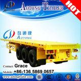 China-Hersteller Tri-Welle 40FT 20FT Versandbehälter-Chassis-Flachbett-halb Schlussteil auf Verkauf