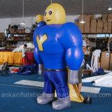 Kostuum van het Beeldverhaal van de Mens van de goede Kwaliteit het Grappige Opblaasbare Bewegende Super