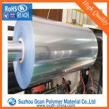 rolo transparente rígido do espaço livre do PVC de 0.35mm para o vácuo que dá forma à bandeja do ovo