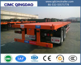 Cimc 3 Behälter der BPW Wellen-20FT 40FT/Hilfsprogramm/Ladung-Flachbett/Plattform-LKW-halb Schlussteil