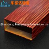 Perfil de alumínio da extrusão Finished de madeira da grão para o frame de indicador de alumínio
