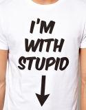 T-shirts graphiques Nice de coton d'OEM pour les hommes