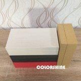 Joyería atractiva de madera como el rectángulo de regalo de la visualización del embalaje del papel de imprenta