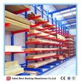 Preço razoável prateleiras de armazenamento de armazenamento em cantilever de dois lados pesados