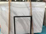 Azulejo blanco de mármol de la losa del espesor de Volakas 18m m