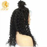 Полный парик 7A фронта шнурка Preplucked плотности париков 150% человеческих волос шнурка освобождает глубокие курчавые парики человеческих волос фронта шнурка для чернокожей женщины