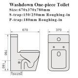 Wasserzeichen-anerkannte WC-einteilige keramische Toilette (1036)