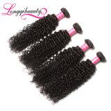 卸売100%インドの加工されていない未加工ジェリーのカールのバージンの毛