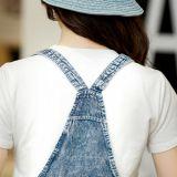 Одно сделанное готовое платья джинсовой ткани части для оптовой продажи