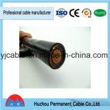 Cable de transmisión subterráneo acorazado aislado PVC del cobre