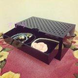 Tiroirs noirs de luxe de mémoire de renivellement pour la mémoire de bijou et de produit de beauté