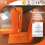 Casement de alumínio Windows da madeira contínua, projeto de madeira perfeito para HOME, ideal importado Windows do indicador da madeira contínua