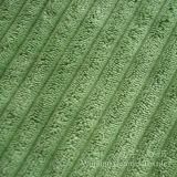 Tissu décoratif en velours côtelé Nlyon avec traitement à l'oeil de chat