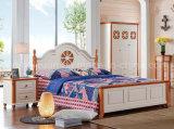 固体木のベッドの現代ダブル・ベッド(M-X2228)