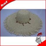 Carrocería de sombrero tejida paja de papel hecha punto