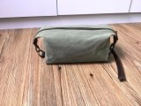 Leather Canvas Cosmetic Bag Wholesale